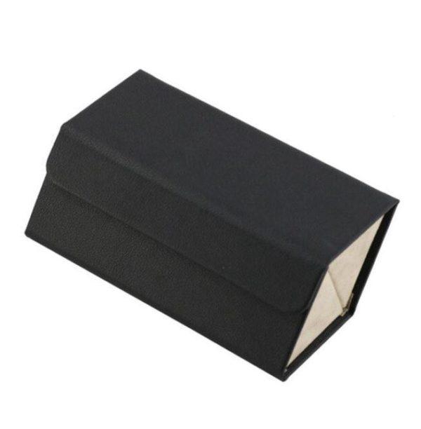 Boîte De Rangement Pour Lunettes Flash Ventes Noir - 2 poches