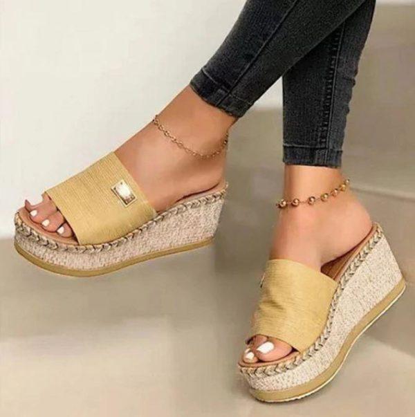 Sandales Compensées IBIZA Minute Mode Jaune 40