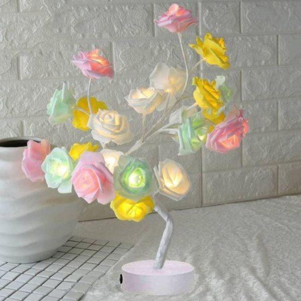 Lampe Fleurs De Rose Flash Ventes Multicolore