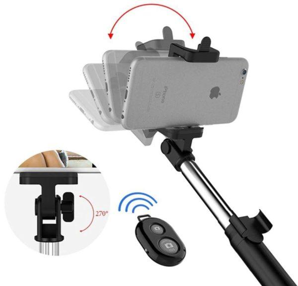 Screenshot 7 a618e2a5 2f19 4398 b161 5de190f5f1b0 Perche À Selfie 4-En-1 Avec Télécommande Bluetooth
