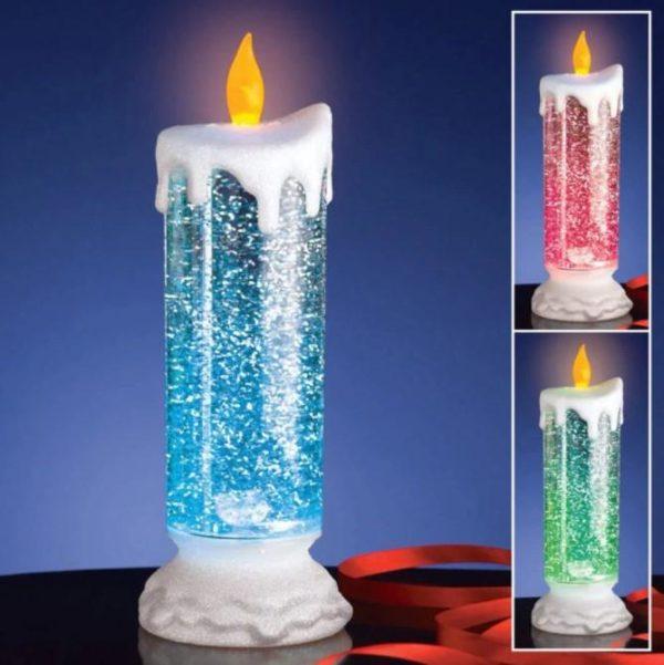 Bougie LED Rechargeable - Décoration De Noël Flash Ventes Socle de neige