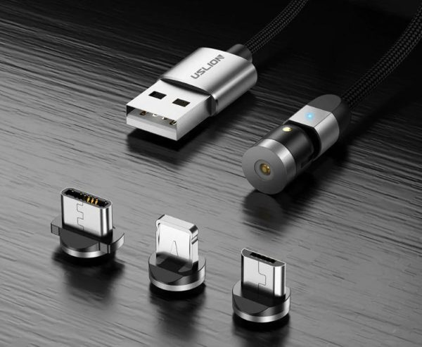 Cable magnétique chargement iPhone - Type C - Micro Usb 360° Raton Malin