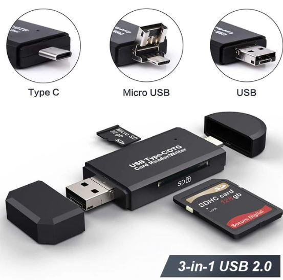 Screenshot 8 71418392 903e 456e 90f5 8c70aec3efcb Lecteur De Carte 3-En-1 Micro Usb - Usb - Type C Pour Android