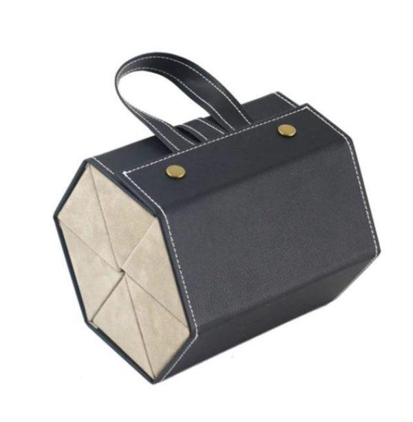 Boîte De Rangement Pour Lunettes Flash Ventes Noir - 6 poches