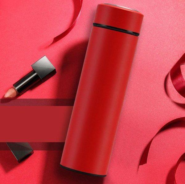 Bouteille d'Eau Isotherme avec Affichage de Température Raton Malin Rouge