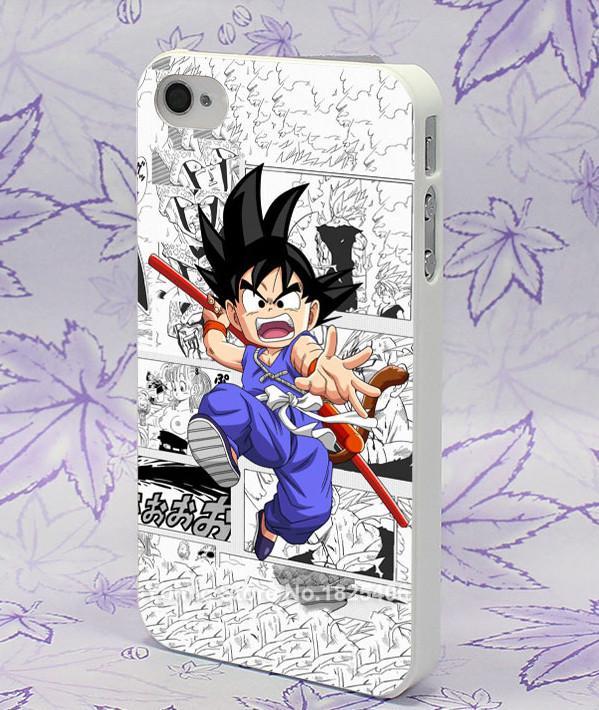 Sept dragon ball z kid goku dur blanc de motif peau housse pour iPhone 4 4S Coque Son Goku Dragon Ball Z Pour Iphone - Livraison Gratuite !