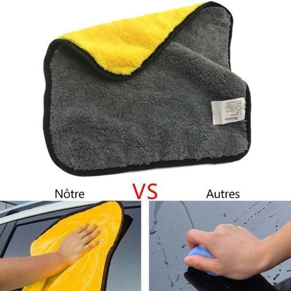 Serviette de Nettoyage Serviette Microfibre, Le Meilleur Moyen Pour Nettoyer Sa Voiture