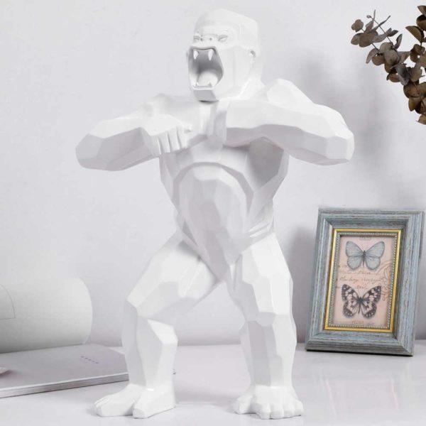 StatuegorilleresineBLANC 679da264 3df3 4cf6 8160 6f45b5e6eddc Statue Gorille Résine, Le Meilleur Objet De Décoration En Intérieur