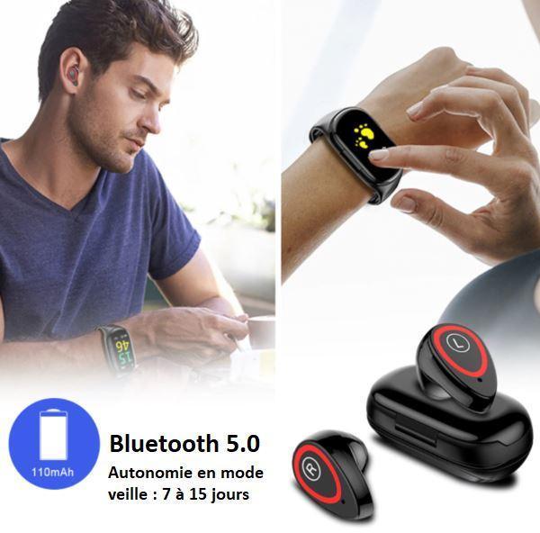T2 55ded114 5306 42cf 8242 3d0e7528aad3 Montre Connectée Intelligente Avec Écouteurs Bluetooth