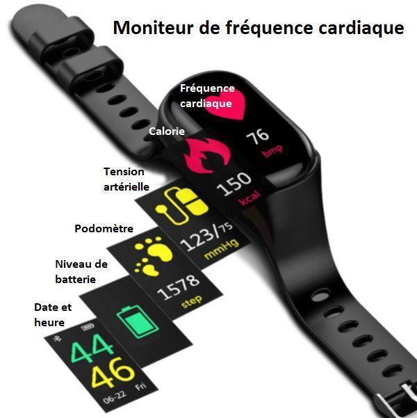 T4 4d733a31 0572 47a4 8884 4d91d5df3712 Montre Connectée Intelligente Avec Écouteurs Bluetooth