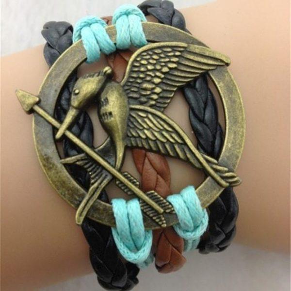 The hunger games bracelet antique bronze oiseau sous vintage retro en cuir corde gros.jpg 640x640 985c49cd 942c 4c3b a7da b8fcefeac9d3 Bracelet Mockingjay Hunger Games Multi-Rangs En Cuir - Livraison Gratuite !