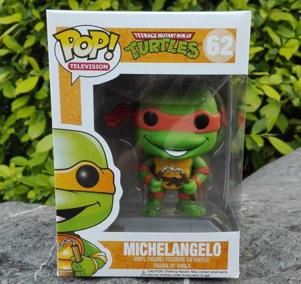Vente chaude anime funko pop Teenage Mutant Ninja Turtles figure PVC jouets 10 cm TMNT Michelangelo 4 Figurine Les Tortues Ninja 10 Cm (4 Couleurs) - Livraison Gratuite !