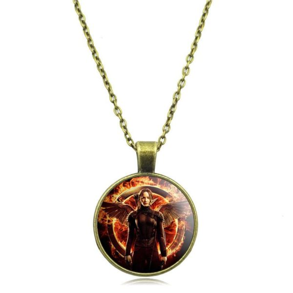 Vintage Jewelry Pendant Necklace Movie Hunger Games Glass Cabochon Picture Fashion Black Chain Necklace for Women b5df92b4 675b 4fbe 9307 729308baec5f Collier À Pendentif Cabochon Hunger Games (3 Couleurs) - Livraison Gratuite !