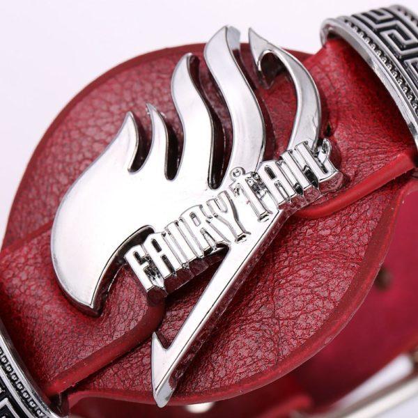 ZIDOM magique anime Fairy Tail en cuir bracelet Punk rock style bracelet bileklik pour unisexe anime 1 Bracelet Fairy Tail Cuir Style Punk Rock (2 Couleurs Disponibles) - Livraison Gratuite !