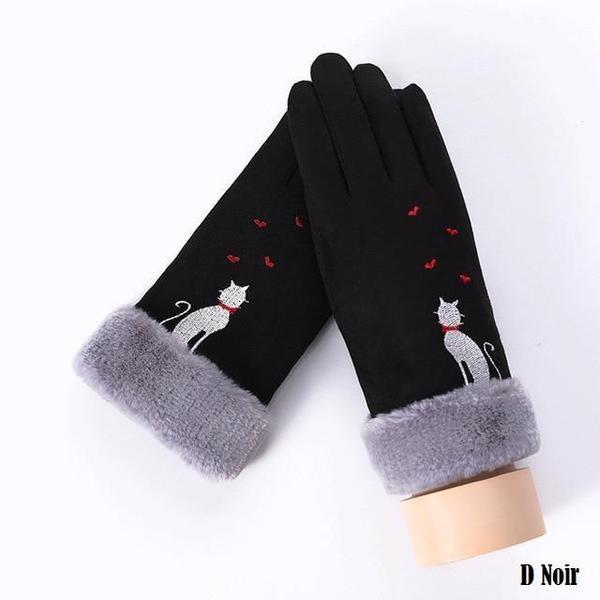 a124 Gants D'hiver Ecran Tactile Pour Femmes