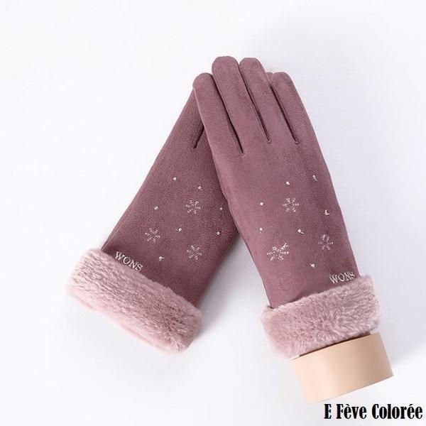 a129 Gants D'hiver Ecran Tactile Pour Femmes