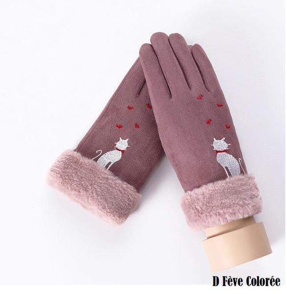 a145 Gants D'hiver Ecran Tactile Pour Femmes