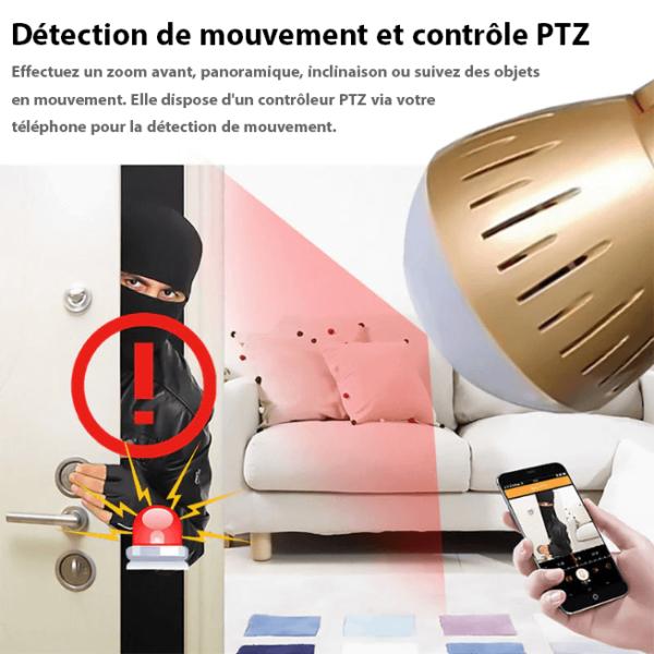 ampoule camera avec enregistrement et detection de mouvement Ampoule Camera : La Sérénité À Prix Pas Cher