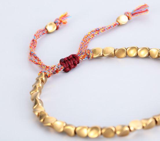 bracelet tibetain avec perles de cuivre balibali Bracelet Tibétain Avec Perles De Cuivre - Balibali™
