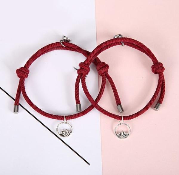 Bracelets De Couple Magnétiques - 2 pièces Flash Ventes Grenat