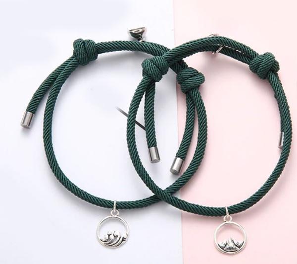 Bracelets De Couple Magnétiques - 2 pièces Flash Ventes Vert
