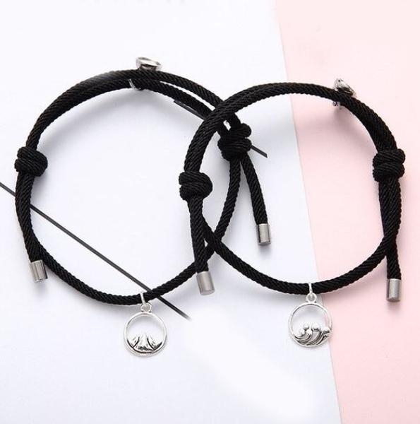 Bracelets De Couple Magnétiques - 2 pièces Flash Ventes Noir