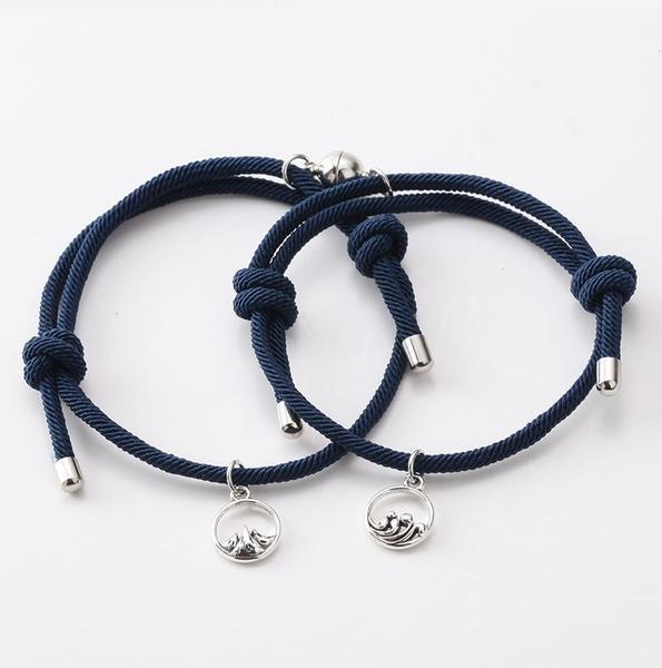 Bracelets De Couple Magnétiques - 2 pièces Flash Ventes Bleu