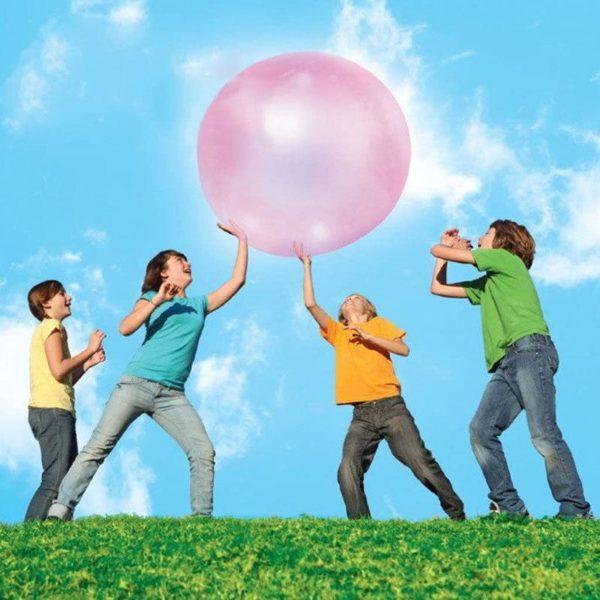 bullegeantepiscine La Boule À Bulles Gonflable Pour Jouer En Famille