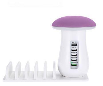 Socle de Chargement Rapide Multi-port & Lampe (5 ports) raton-malin EU PLUG Rose