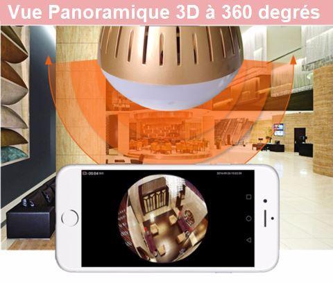 ca1 Caméra De Surveillance Ampoule Ip Wifi