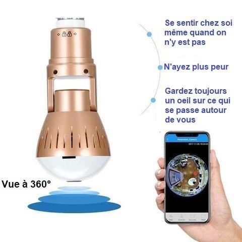 ca2 Caméra De Surveillance Ampoule Ip Wifi