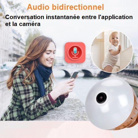 ca3 Caméra De Surveillance Ampoule Ip Wifi