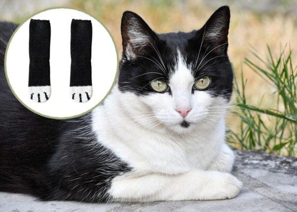 chat noir 1 Chaussettes D'hiver Pattes De Chats