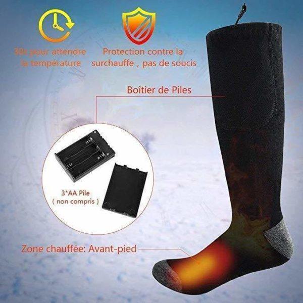 chaussette chauffante ski Chaussettes Chauffantes, La Meilleure Façon De Réchauffer Vos Pieds