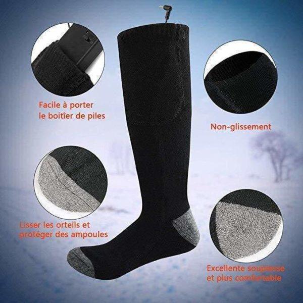 chaussettes chauffantes Chaussettes Chauffantes, La Meilleure Façon De Réchauffer Vos Pieds