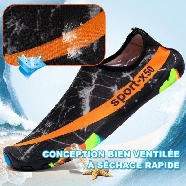 chaussure plastique plage Chaussure D'eau, L'option Pas Cher Pour Les Sportifs Aquatiques