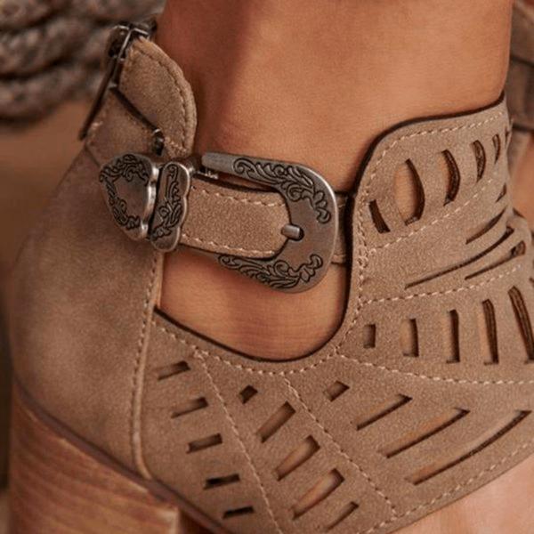 chaussuretalonete Les Bottines Été En Cuir Avec Talon Pour Un Look Féminin