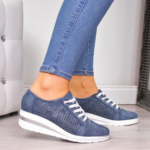 chaussureultraconfortablefemme Les Baskets Confort Lace Up Confortables
