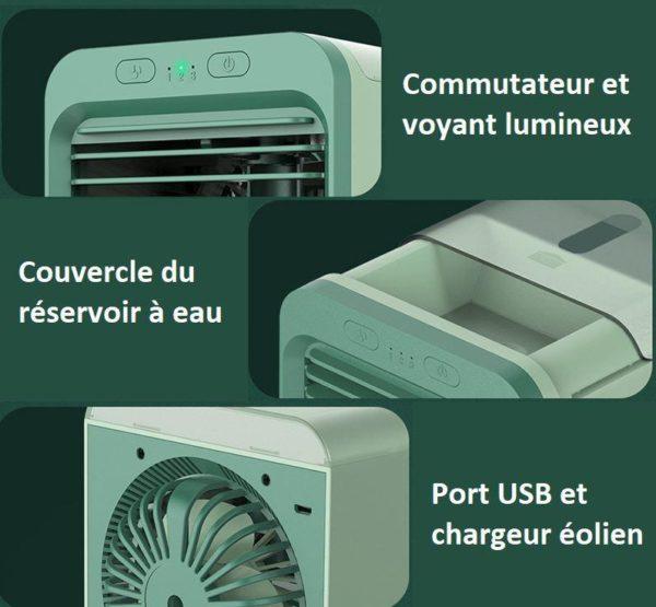 clim2 Mini Climatiseur Rechargeable À Eau