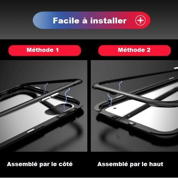 co3 Coque Magnétique De Luxe En Métal Pour Iphone