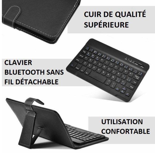 cover4copy Clavier Sans Fil Bluetooth Avec Housse De Protection