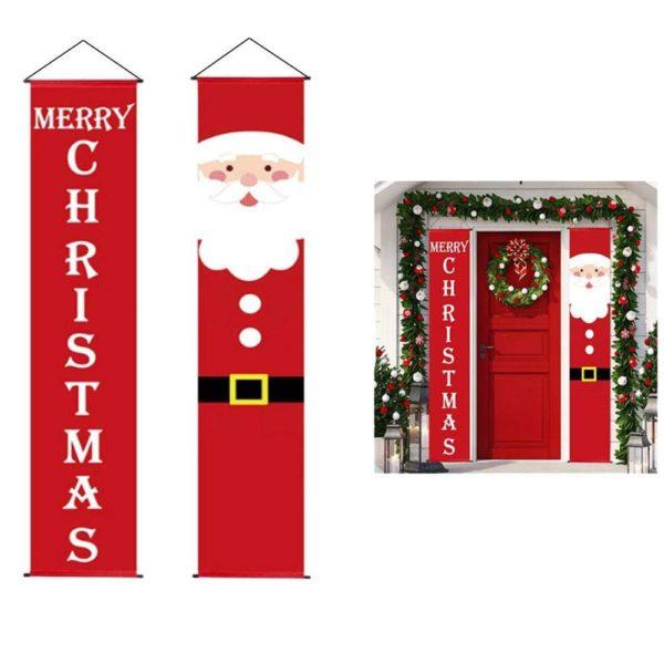 decodeportepournoel ca2ec2a0 2679 44c0 ac00 060254e31ad6 Bannières De Noël Pour La Décoration De Votre Porche
