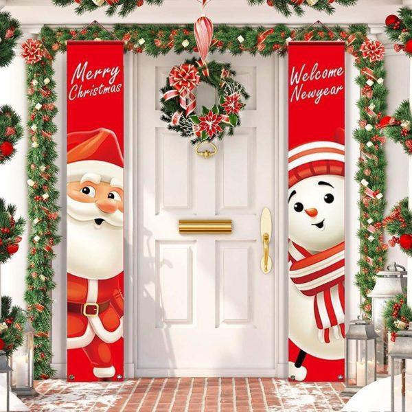 decoportenoel Bannières De Noël Pour La Décoration De Votre Porche