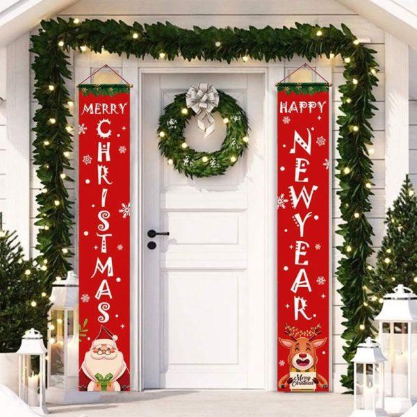 decorationdeportenoel Bannières De Noël Pour La Décoration De Votre Porche