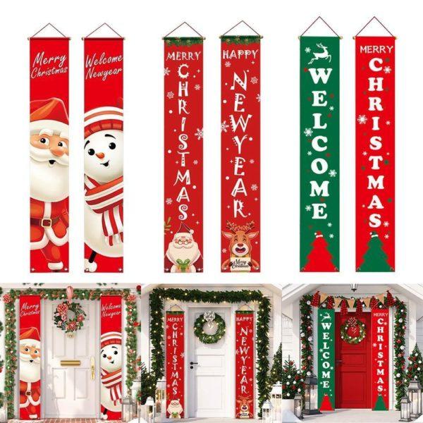 decorationnoelporte Bannières De Noël Pour La Décoration De Votre Porche