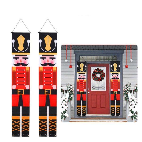 decorationnoelporte 00877756 8773 447c aa32 e68c20e035ed Bannières De Noël Pour La Décoration De Votre Porche