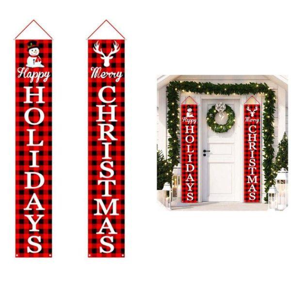 decorationnoelporteexterieur 459e3e60 8bbd 47d6 b18e a10da9487f46 Bannières De Noël Pour La Décoration De Votre Porche