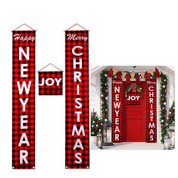 decorationportedenoel d826b354 1dab 4548 8a44 cc76354a1d04 Bannières De Noël Pour La Décoration De Votre Porche
