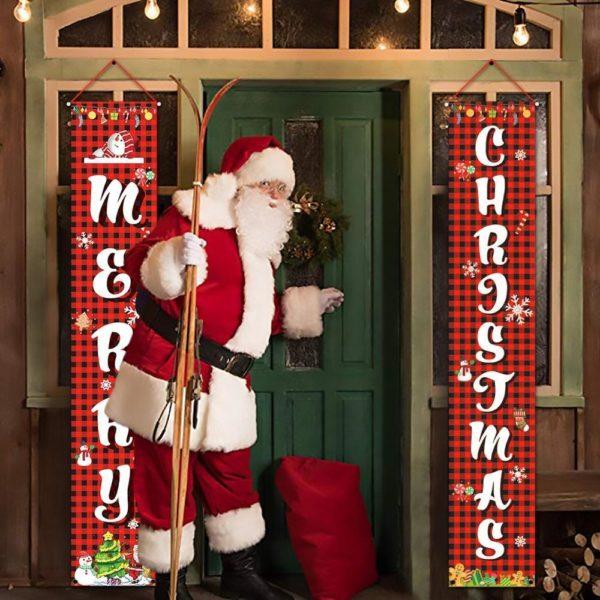 decorationportenoel Bannières De Noël Pour La Décoration De Votre Porche