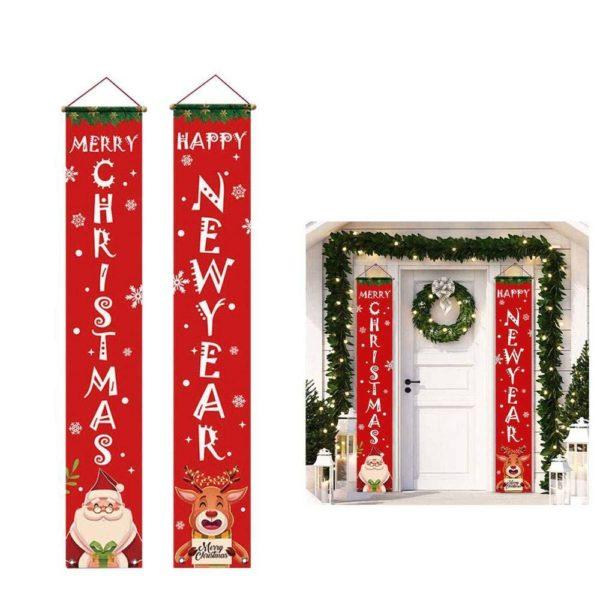 decorationportenoel 158d401c c079 4458 ba0b 2d80cbf8afd2 Bannières De Noël Pour La Décoration De Votre Porche